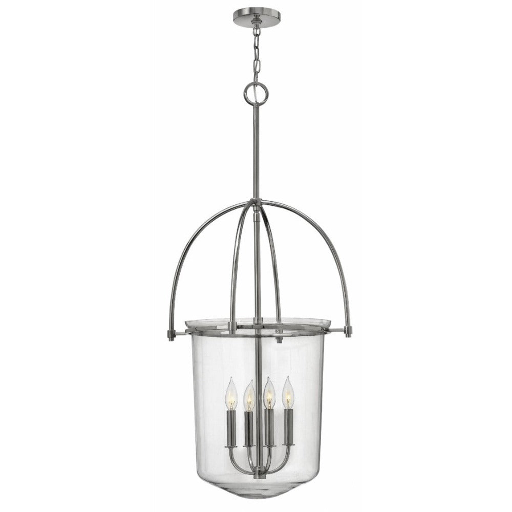 Large Clancy Bell Lantern by Hinkley Lighting in Polished Nickel 3034PN