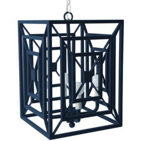 Jay Chandelier in Down Pour Blue, by Stray Dog Designs, 13jay-Dowm Pour Blue