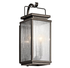 Manningham Outdoor Wall Sconce in Bronze, by Kichler, 49385