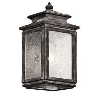 Wiscombe Park Outdoor Wall Sconce in Weathered Zinc by Kichler 49501