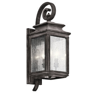 Wiscombe Park Outdoor Wall Sconce in Weathered Zinc by Kichler 49504
