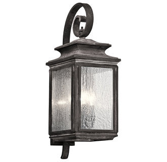 Wiscombe Park Outdoor Wall Sconce in Weathered Zinc by Kichler 49503