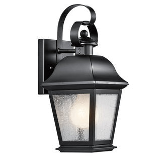 Mount Vernon Outdoor Sconce in Black, by Kichler, 9708BK