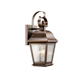 Mount Vernon Outdoor Sconce in Black, by Kichler, 9709OZ