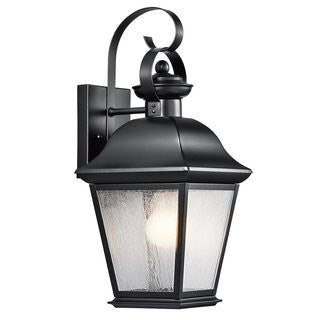 Mount Vernon Outdoor Sconce in Black, by Kichler, 9707BK