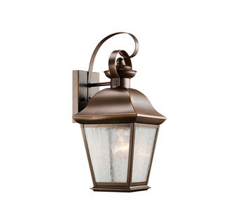 Mount Vernon Outdoor Sconce in Black, by Kichler, 9708OZ