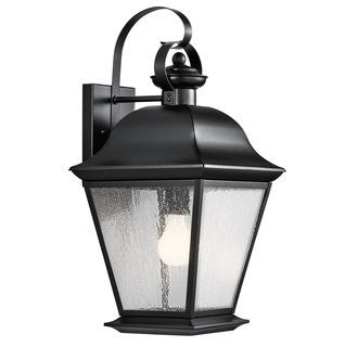 Mount Vernon Outdoor Sconce in Black, by Kichler, 9709BK