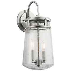 Lyndon Outdoor Wall Lantern in Brushed Aluminum Kichler 49496AZ