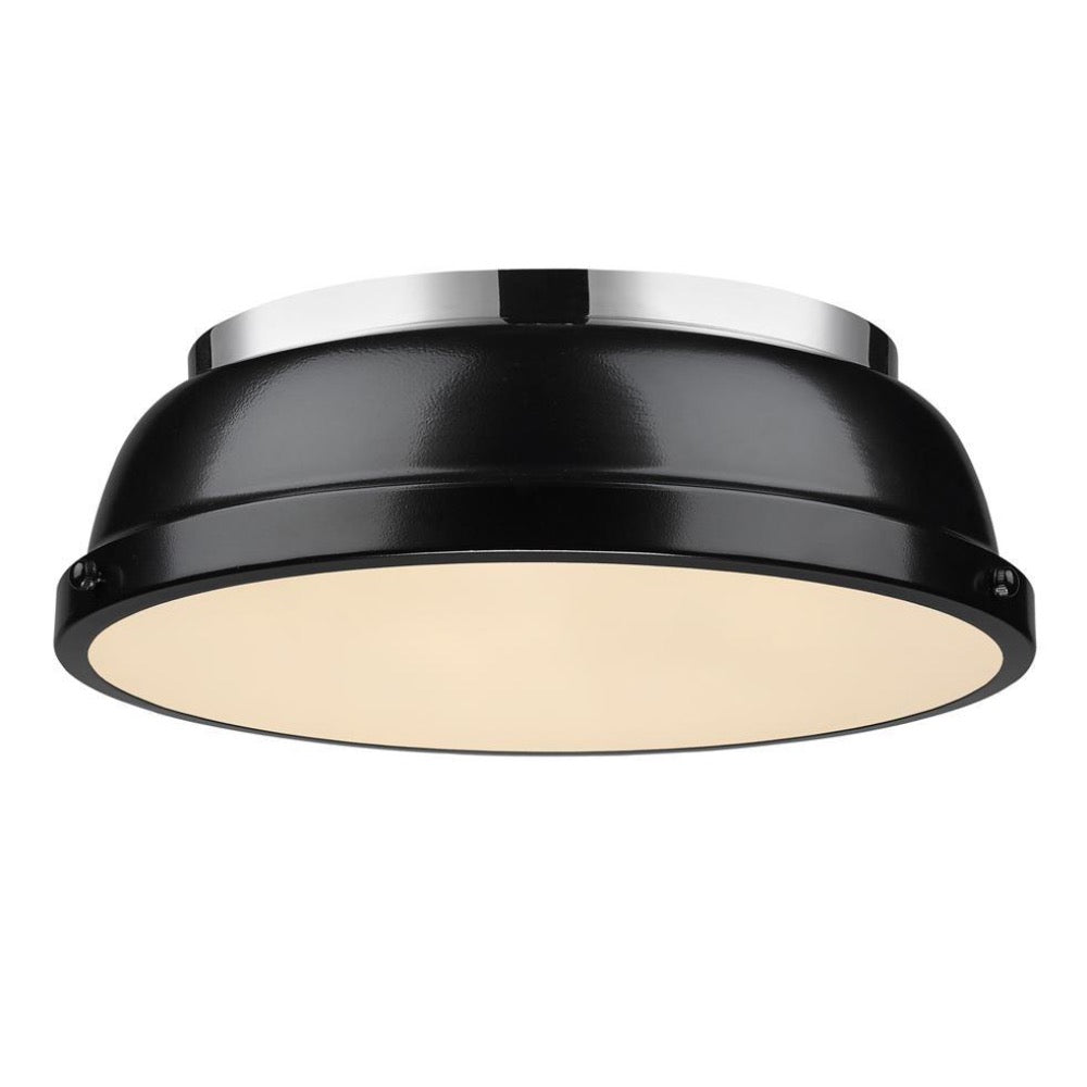 Duncan Flush Mount, Flush Mount, Black