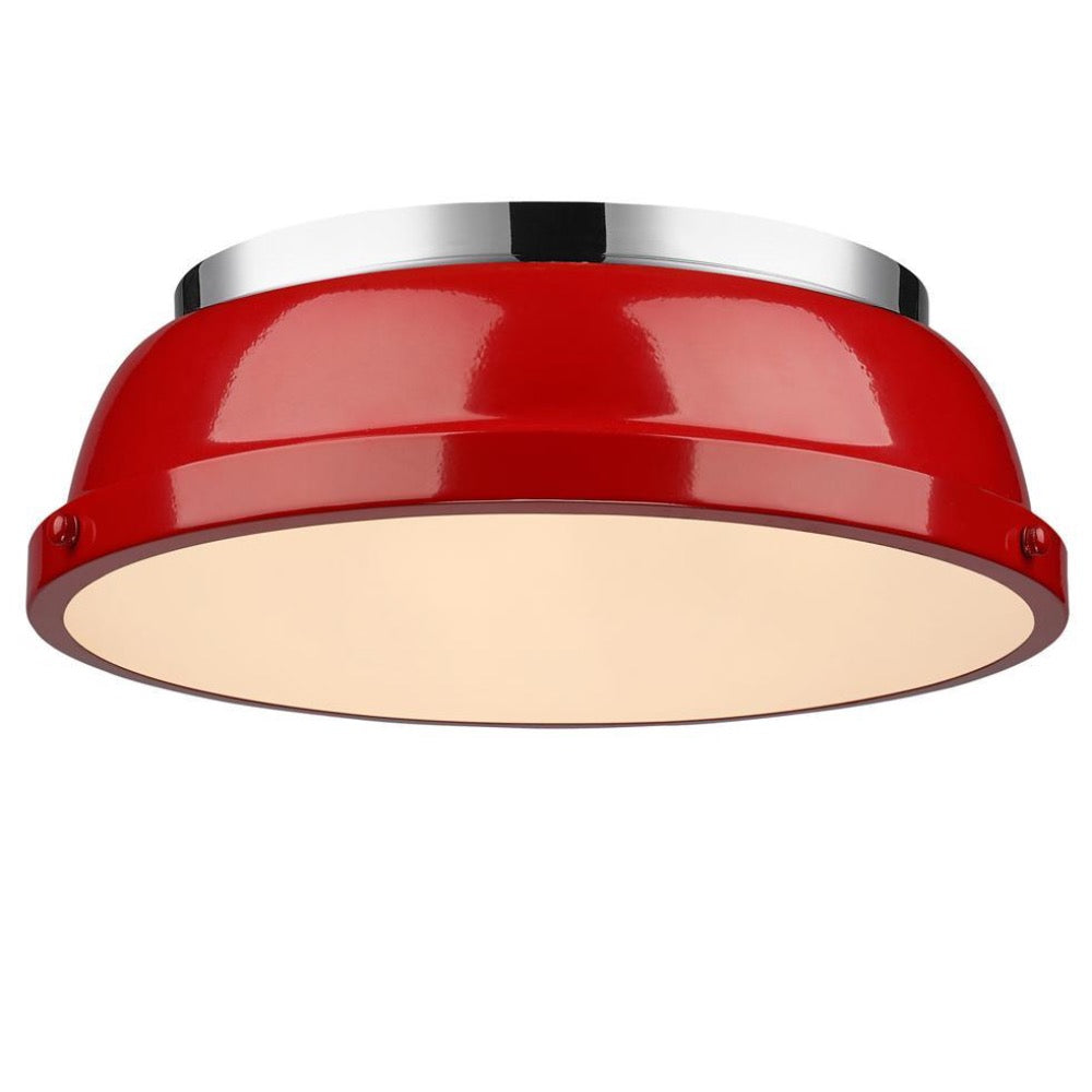 Duncan Flush Mount, Flush Mount, Red