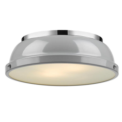 Duncan Flush Mount, Flush Mount, Gray