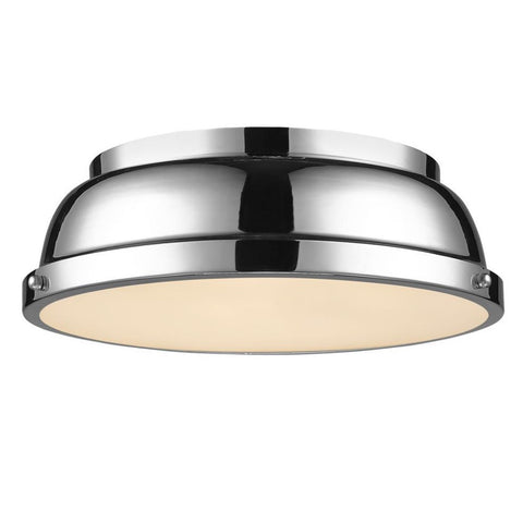 Duncan Flush Mount, Flush Mount, Chrome
