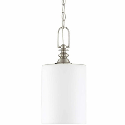 Morrison Mini Pendant, Pendant, Brushed Nickel