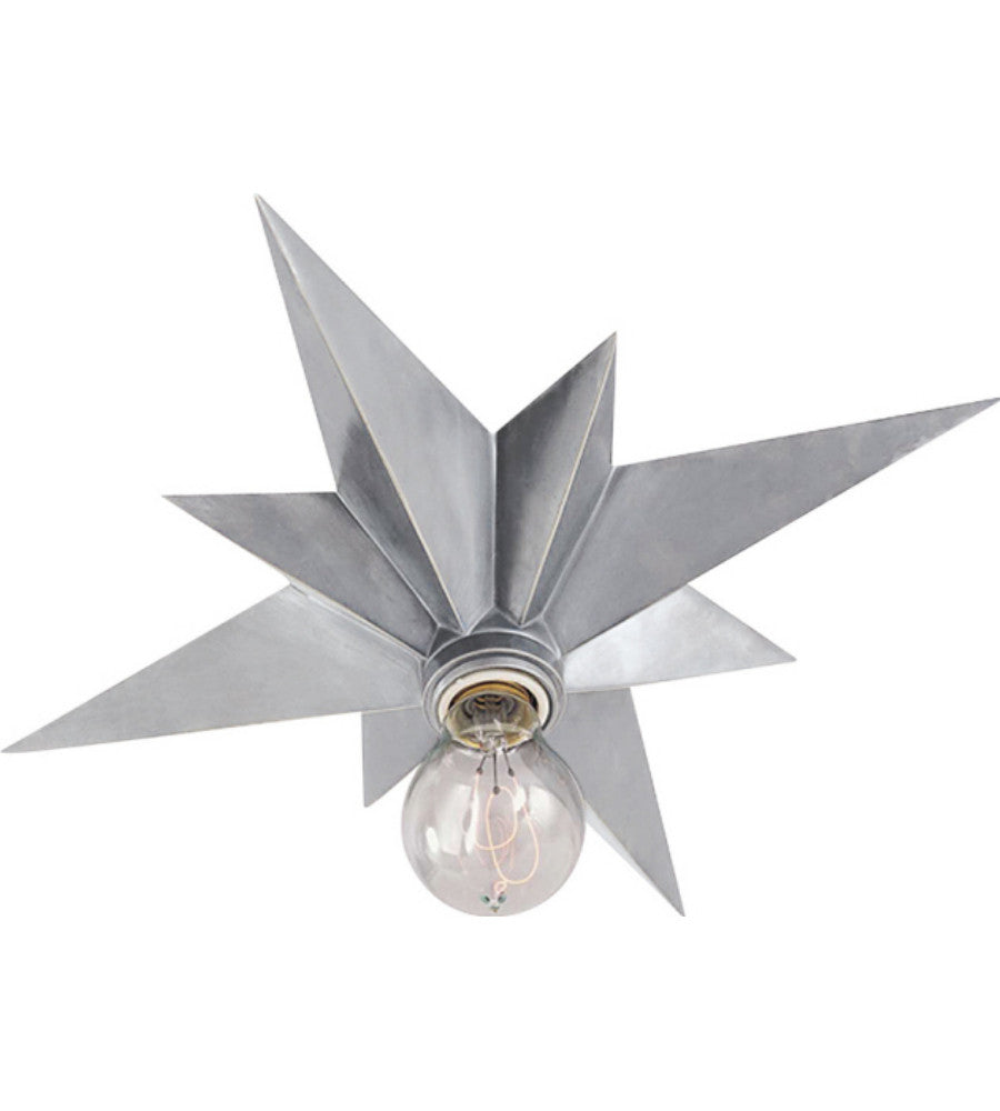 Visual Comfort Star Flush Mount in Antique Silver AC4000AS