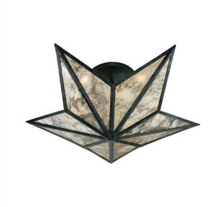 Visual Comfort Constellation Small Flush Mount in Bronze with Antique Mirror SE4100BZ