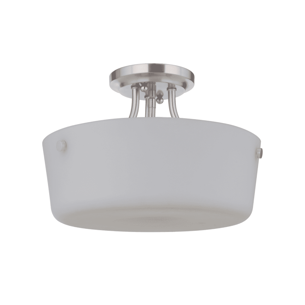 Sutton Semi-Flush Mount, Mount, Brushed Nickel