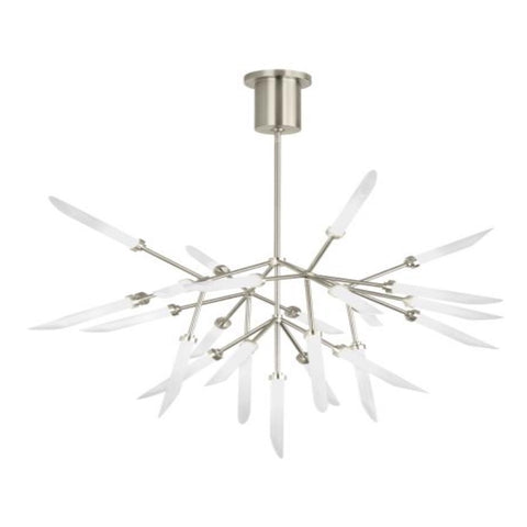 Aria Chandelier, Chandelier, Satin Nickel Small
