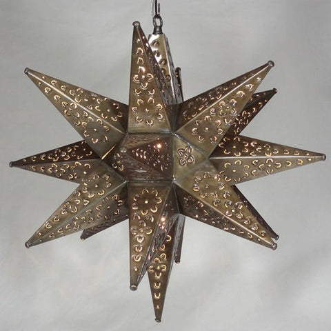 Moravian Bronze Tin Star Light