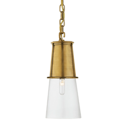 Blaese Pendant in Hand-Rubbed Antique Brass