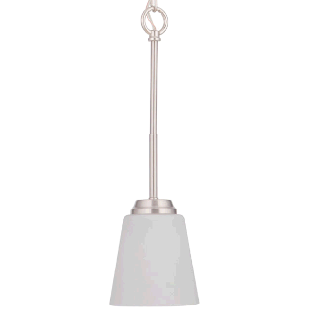 Sutton Mini Pendant, Pendant, Brushed Nickel