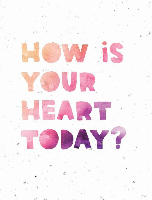 """card that says, """"how is your heart today?"""""""