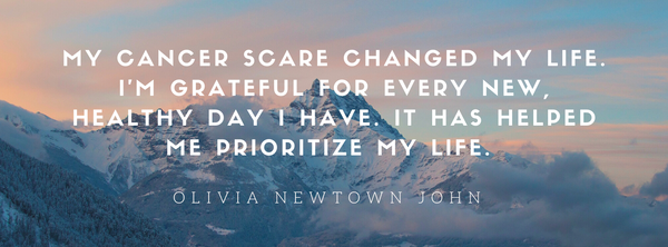 OLIVIA NEWTOWN JOHN QUOTE ON BREAST CANCER