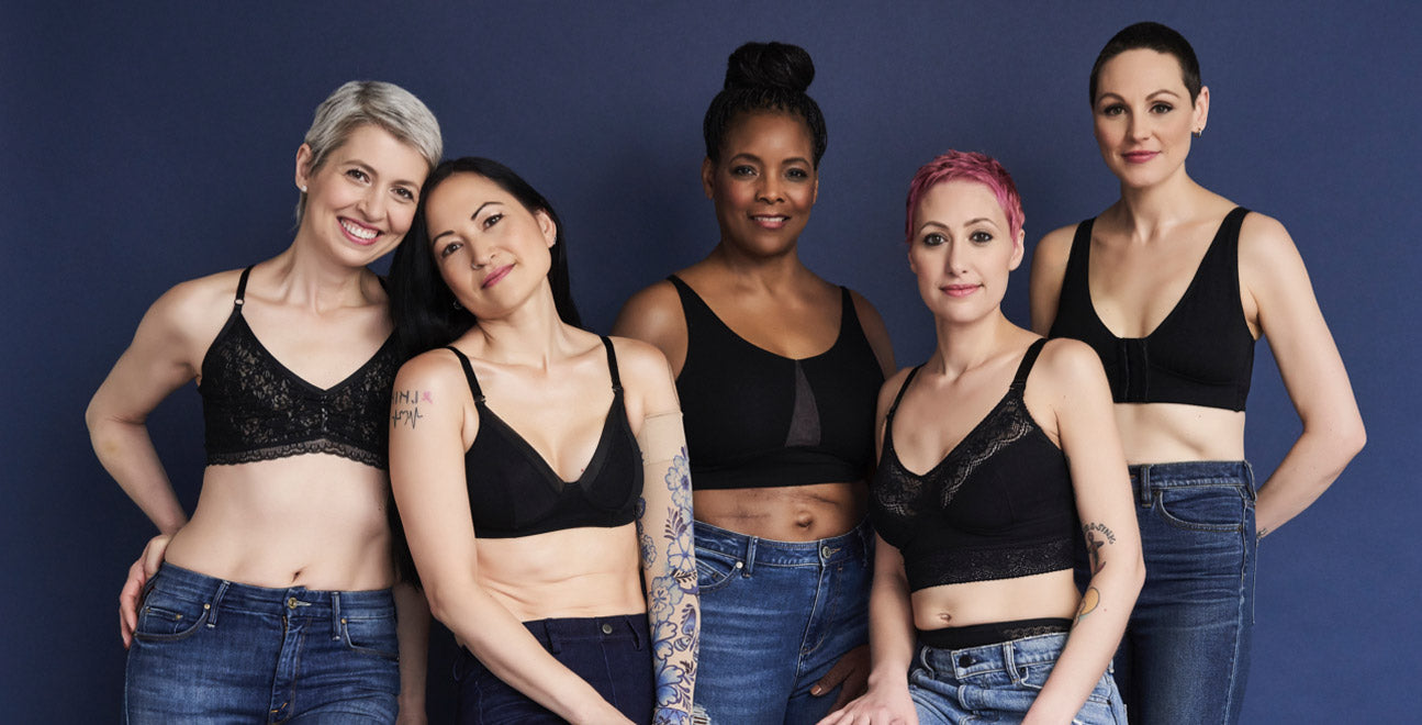 Breast cancer bras, lingerie and loungewear