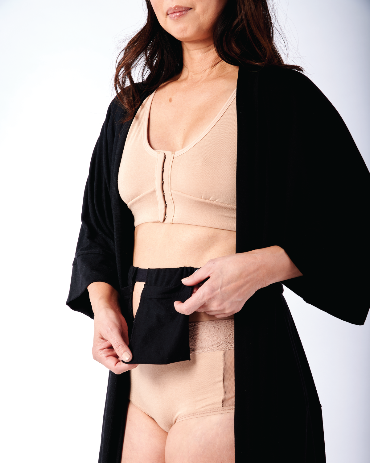 Miena Robe with Drain Management Belt
