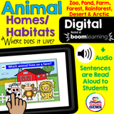 Animal Habitats Boom Cards™ Distance Learning