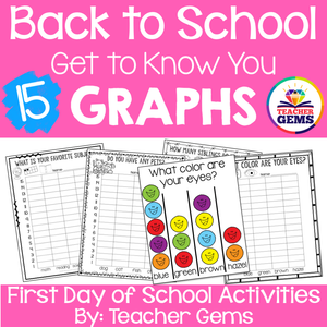 First Day of School Get to Know You Graphs