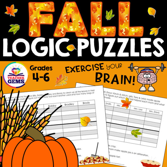 Fall (Autumn) Theme Logic Puzzles