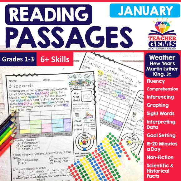January Reading Passages - Weather