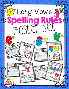 Long Vowel Spelling Rules Poster Set