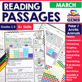 March Reading Passages - Polar Animals | Arctic Animals