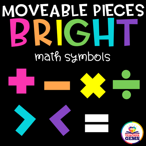 Math Symbols Moveable Pieces Clipart
