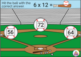 Multiplication Baseball Facts 0-12 Digital Boom Cards™ Distance Learning