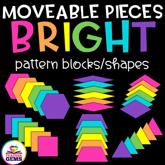 Pattern Blocks Moveable Pieces Clipart