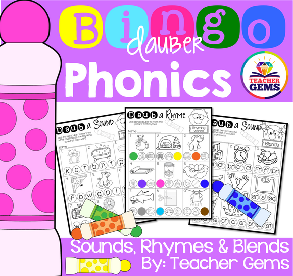 Phonics with Bingo Daubers (Markers)