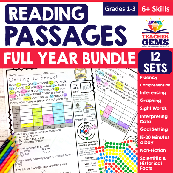 Monthly Reading Passages Bundle
