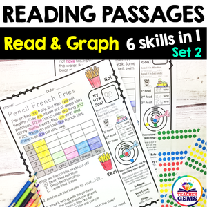 Reading Passages | Read and Graph | Silly Set 2
