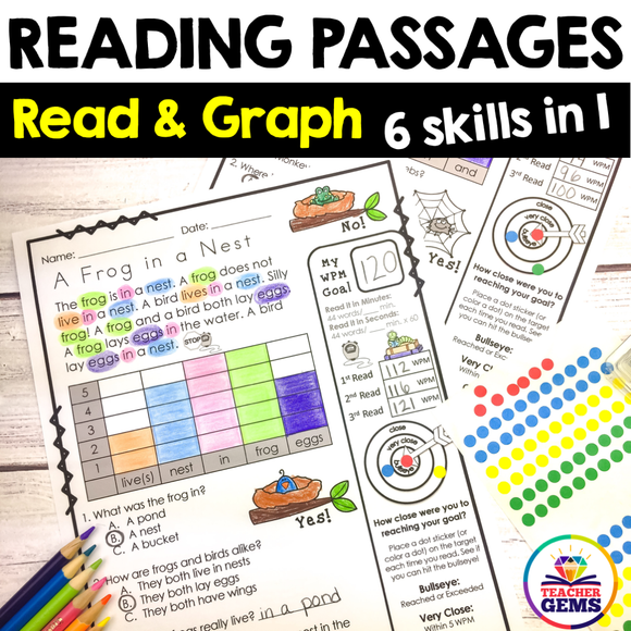 Reading Passages | Read and Graph | Silly Set 1