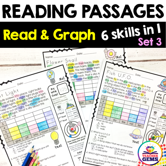 Reading Passages - Read and Graph Set 3