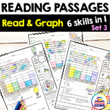 Reading Passages | Read and Graph | Silly Set 3