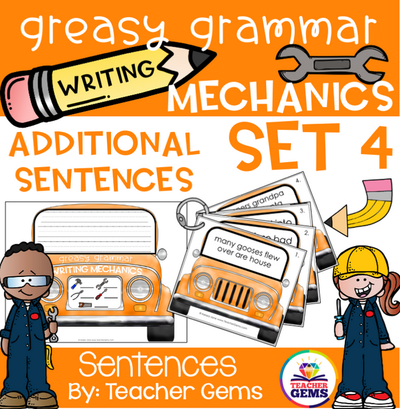 Greasy Grammar Writing Mechanics Set 4 Sentences