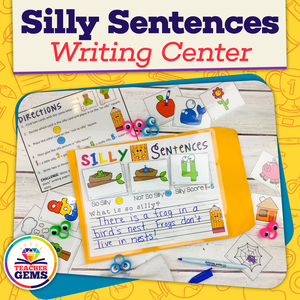 Silly Sentences Writing Center