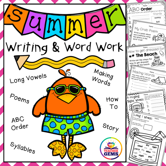 Summer Writing and Word Work