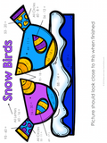 Winter Color by Number Two-Digit Addition and Subtraction to 100