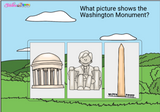 US Landmarks and American Symbols Digital Boom Cards™ Distance Learning