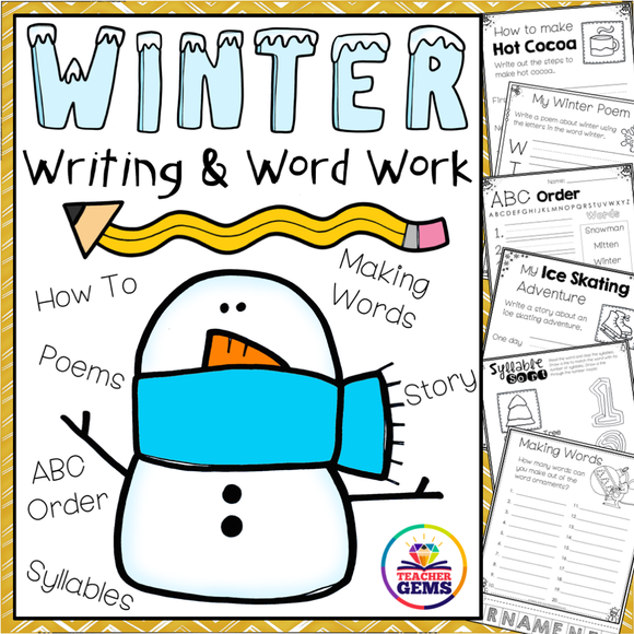 Winter Writing and Word Work