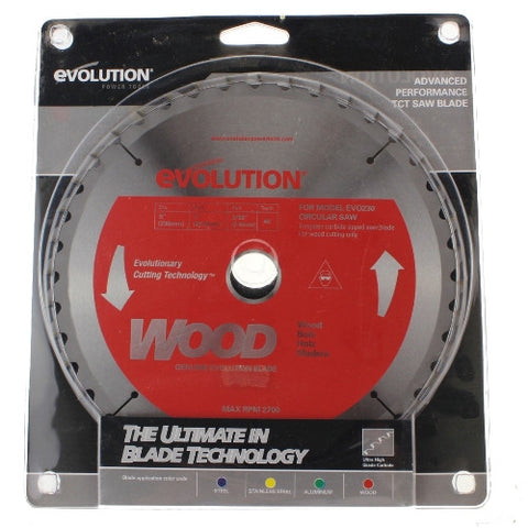 Evolution Circular Saw Blade - 230mm - Wood